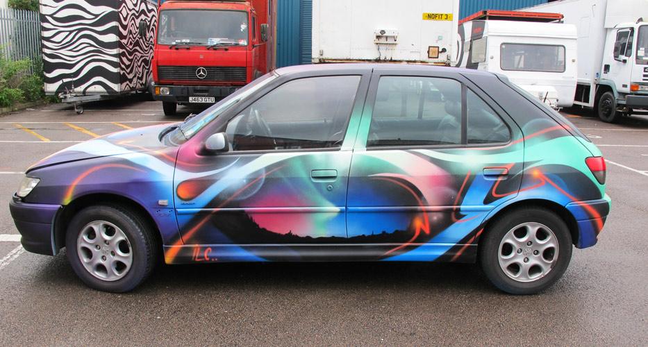 Vehicles 171 Peaceful Progress Graffiti Art Cardiff