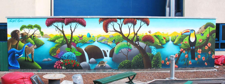Heath Hospital Jungle Mural 171 Peaceful Progress 171 Peaceful