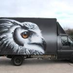 Owl-Graffiti-Van-Cardiff